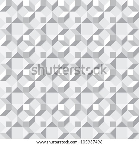 Seamless texture - simple vector monochrome abstract pattern - stock vector