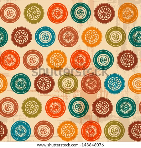 seamless texture vintage car wheel. Vector vintage car seamless pattern. ink stains and brush strokes. texture of the old paper - stock vector