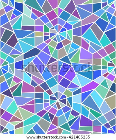 seamless texture broken stained glass window stock vector