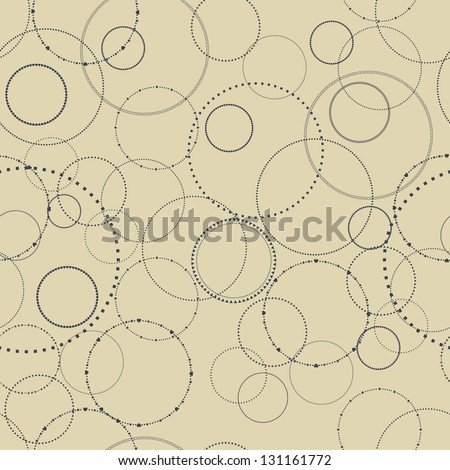 Seamless texture with a concentric pattern - stock vector