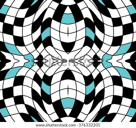 Seamless Texture Distorted Checkerboard Tile Pool Stock Vector ...