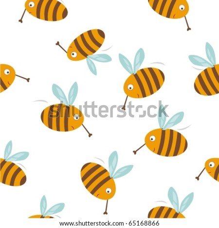 Seamless texture with bees