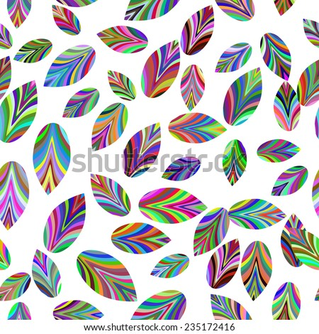 seamless texture with colors leaves. Place for your text - stock vector