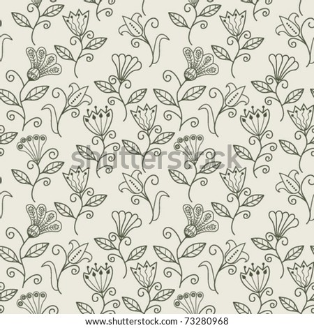 Seamless texture with flowers. Endless floral pattern. - stock vector