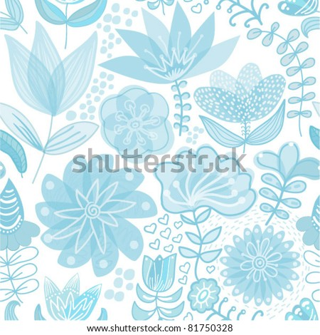 Seamless texture with flowers. Endless floral pattern