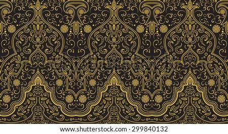 Seamless texture with luxury arabic ornament. Vector vintage pattern - stock vector
