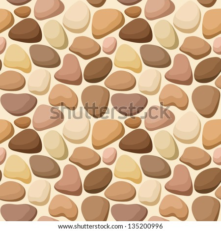 Seamless texture with stones. Vector illustration. - stock vector