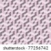 seamless tilable pink 3d isometric cube pattern - stock vector
