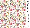 seamless tiny flowers,floral vector pattern background - stock