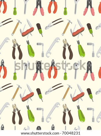 seamless tool pattern - stock vector