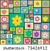 Seamless Trendy and cute Pattern design with flowers. - stock vector