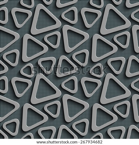 Seamless Triangle Pattern. Abstract Gray Background. Vector Regular Texture - stock vector