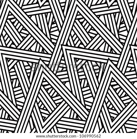 Seamless triangle pattern background - stock vector