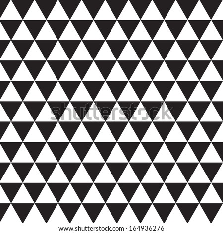 Seamless triangle pattern, vector background - stock vector