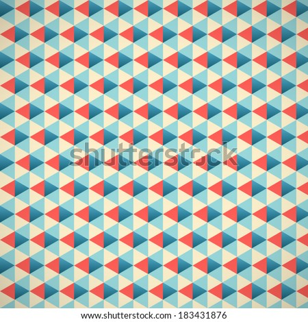 Seamless triangle pattern vector background geometric abstract texture eps10 - stock vector