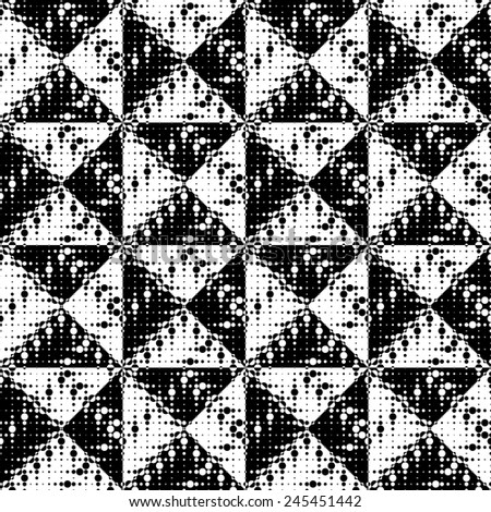 Seamless Triangle Pattern. Vector Black and White Background