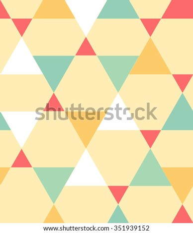Seamless triangles pattern background