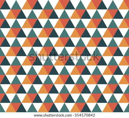 Seamless triangular geometric pattern. Seamless abstract triangle geometrical background. Infinity geometric pattern. Vector illustration. - stock vector