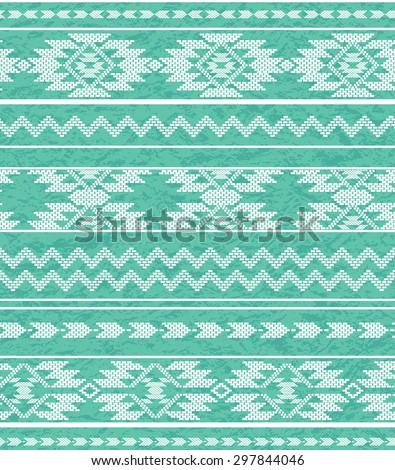 seamless tribal vector pattern. navajo geometric boho elements.  - stock vector