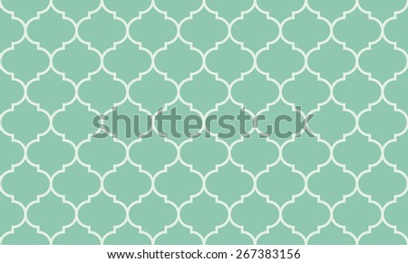 Seamless turquoise wide moroccan pattern vector - stock vector