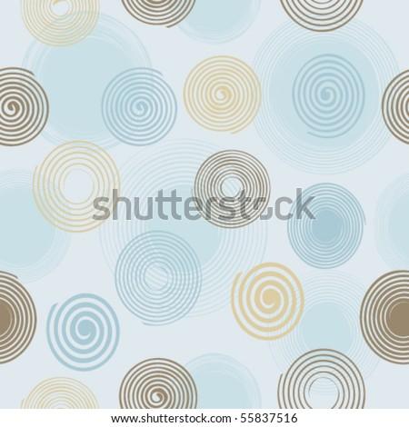 Seamless twirls pattern - stock vector