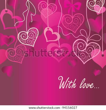 Seamless Valentine background - stock vector