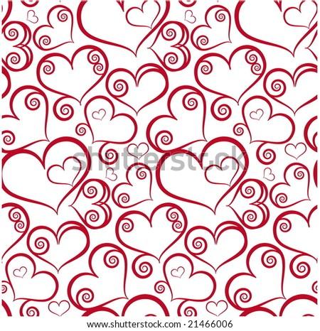 Seamless valentine pattern - stock vector