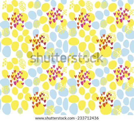 Seamless Valentine's Day Heats pattern. Funny Hearts Wallpaper. Valentine's background. - stock vector