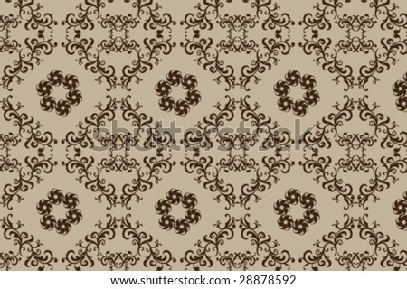 seamless vector abstract floral ornament - stock vector