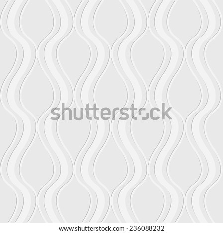 Seamless vector abstract wave pattern background from paper - stock vector