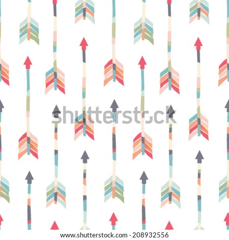 Seamless vector arrows pattern - stock vector