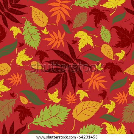 "Seamless vector autumn leaves background. Thanksgiving (from my big ""Seamless collection"")"