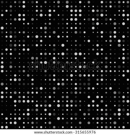 seamless vector background black dots pattern. regular algorithmic tile with black background and dots. random dots pattern for desktop, web sites, modern cards and graphic design use. - stock vector