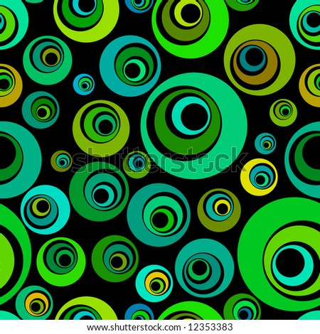 Seamless vector background pattern, with circles.