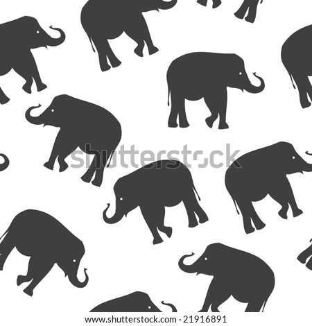 seamless vector background with elephant
