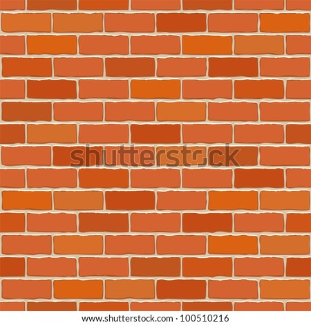 Seamless vector brick wall - background pattern for continuous replicate. - stock vector