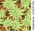 Seamless vector bright flower background - stock vector
