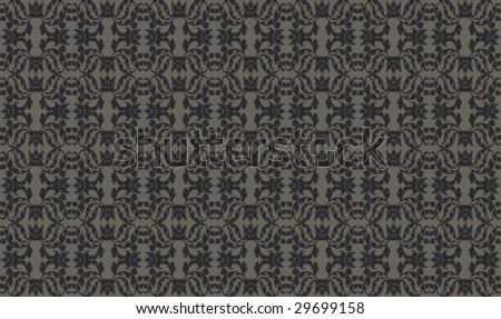 seamless vector damask flower pattern ornament background - stock vector