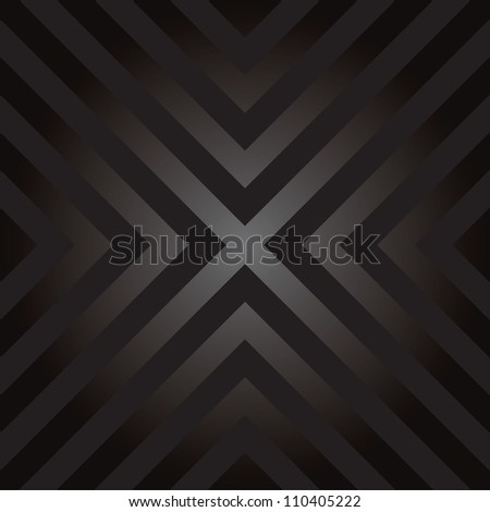 Seamless vector design with X shaped hazard striped lines. - stock vector