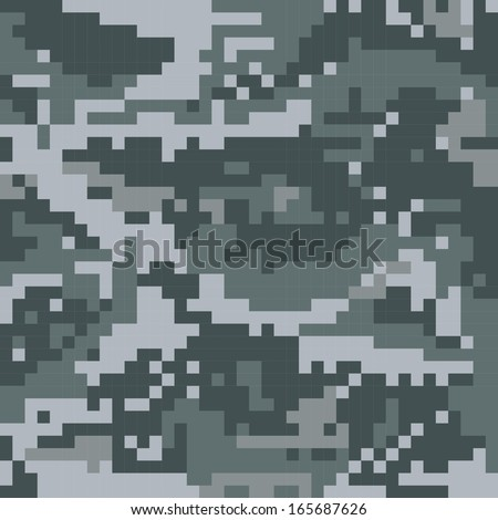 Seamless vector digital Camouflage - stock vector