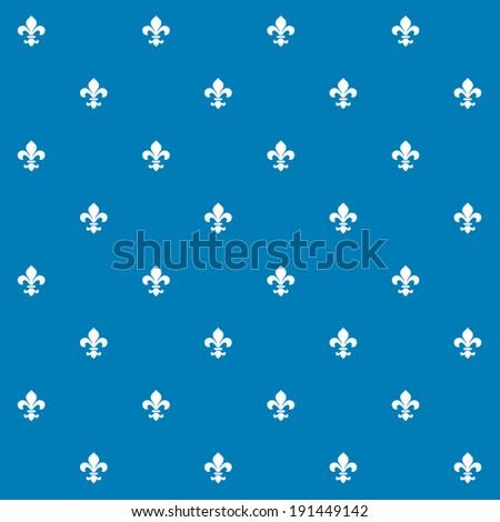 Seamless Vector Fleur de Lys Background Texture Pattern - stock vector