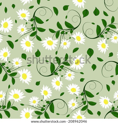 Seamless vector floral pattern. EPS 10. - stock vector