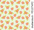 Seamless vector flower pattern - stock photo