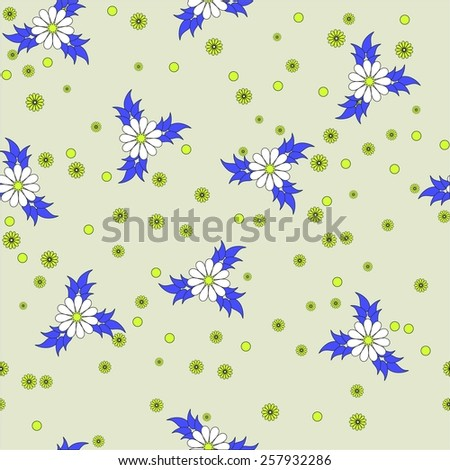 Seamless vector flower pattern. - stock vector