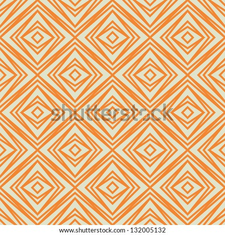 Seamless vector geometric rhombus pattern background - stock vector