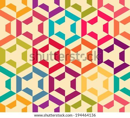 Seamless vector geometric strip pattern background - stock vector