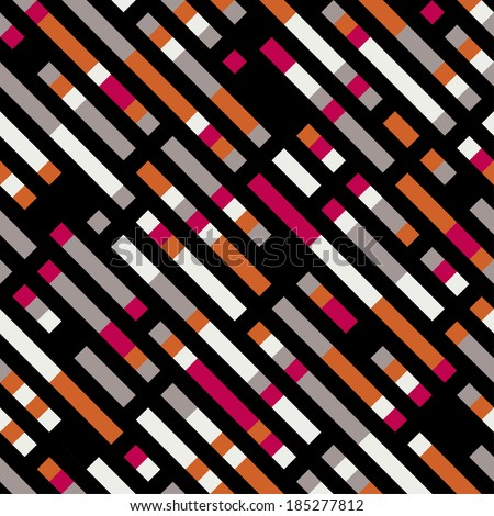 Seamless vector geometric striped pattern background - stock vector