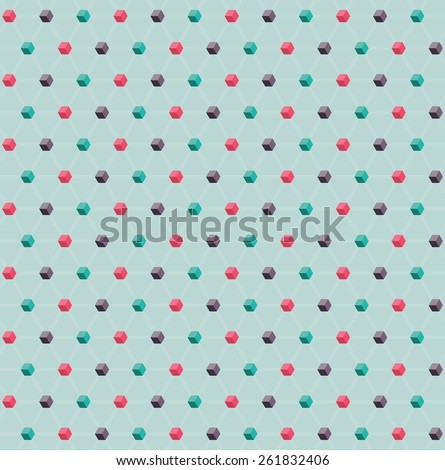 Seamless vector geometrical cubic pattern - stock vector