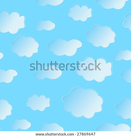 Seamless vector illustration of clouds