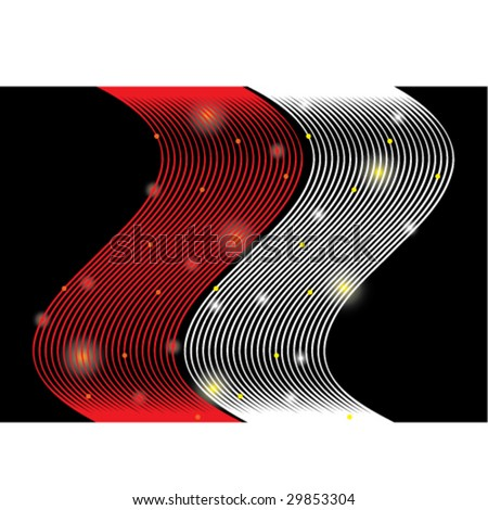 Seamless vector in any direction. Highway at night. Or holiday gift wrap paper. - stock vector